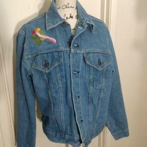 Vintage Levi's jean jacket distressed size 44